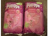 2 x packs girls Huggies Pull ups night time