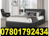 BED BRAND NEW DOUBLE LEATHER BED AND MATTRESS 8341
