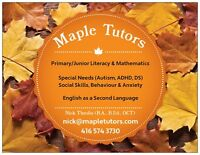 Maple Tutors - Primary/Junior, Special Needs, Adult English -