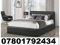 BED BRAND NEW DOUBLE LEATHER BED AND MATTRESS 04277