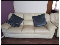 3 seater leather sofa and armchair. Can deliver
