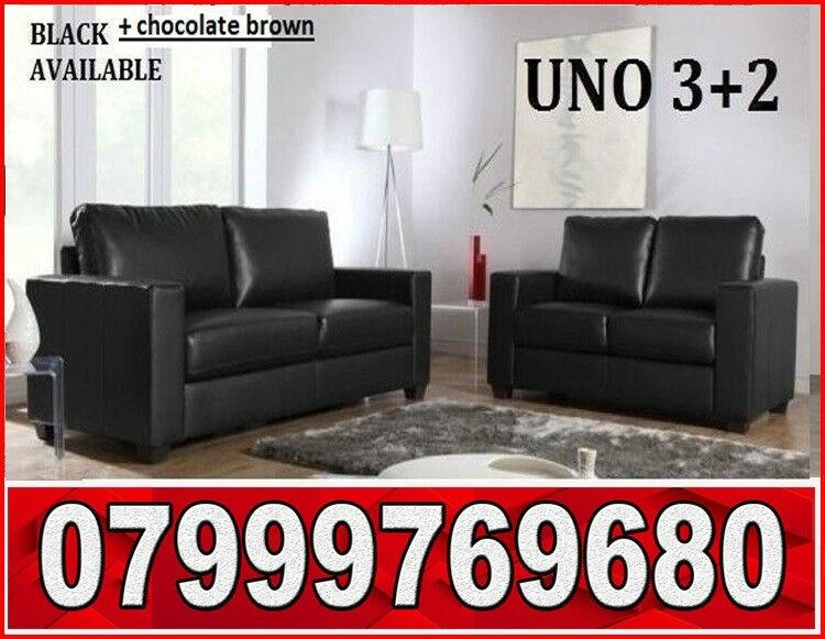 3 2 Italian Leather Sofa Black Or Brown Sofas Fast Delivery