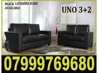3 + 2 Italian leather sofa brand new black or brown sofas fast delivery