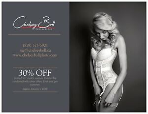 Up to $255 off of boudoir photography Cambridge Kitchener Area image 1