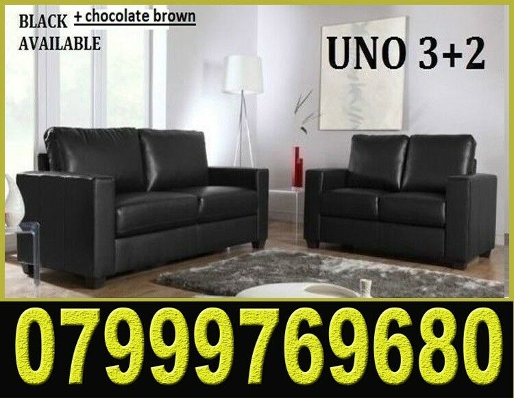 3 2 Italian Leather Sofa Brand New Black Or Brown Sofas Fast Delivery