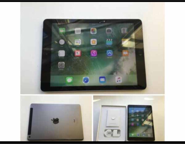 Ipad air 64gb cellular (sim cardin Anfield, MerseysideGumtree - Ipad air 64gb 4g space grey (vodafone) full working order small dent on back shown boxed with genuine mains charger sync lead no offers or swaps collection in aintree 44 7923 569760