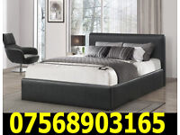 BED BRAND NEW DOUBLE LEATHER BED AND MATTRESS 79