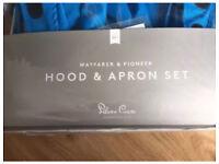 BRAND NEW sky blue wayfarer hood and apron