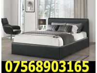 BED BRAND NEW DOUBLE LEATHER BED AND MATTRESS 4740