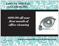 Commercial Cleaning Specialist $100.00 off 1st contracted clean