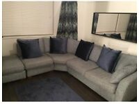 Blue/Grey Corner Sofa, 18 Months Old, Dimensions On Pictures, Need Gone ASAP