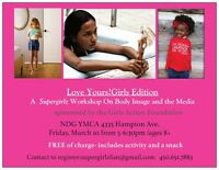 Free workshop activity on body image for girls 8 and up