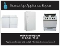 Reliable and trustworthy appliance repair and install