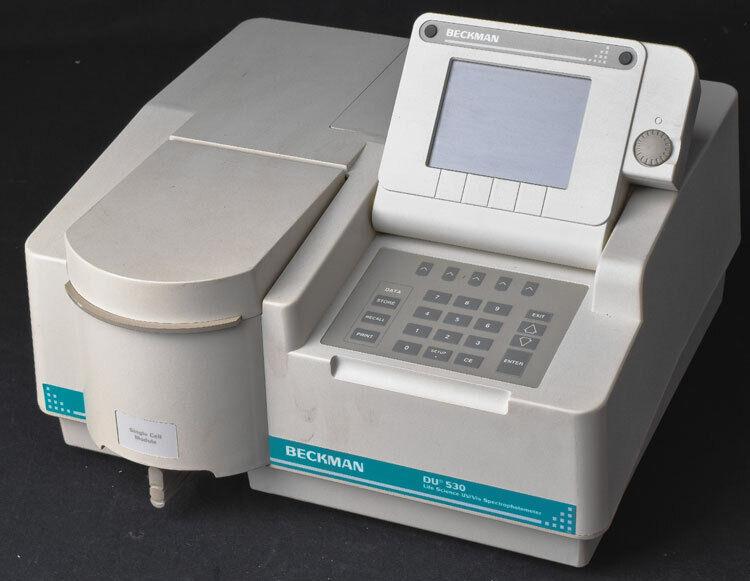 Beckman DU 530 517601 Single Cell Module Life Science UV Vis Spectrophotometer