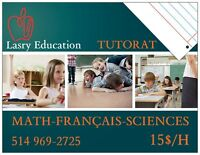 TUTOR-AIDE AUX DEVOIRS 15$/H ALL SUBJECTS **TUTEUR**