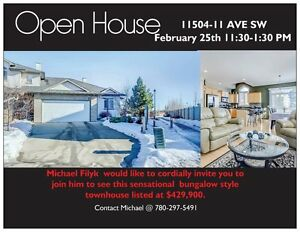 Open House Sat-Feb 25 @  11:30- 1:30pm 11504-11 AV SW