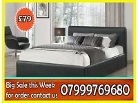 ****DOUBLE ****LEATHER BED AND MATTRESS **BRAND NEW ***VERY GOOD QUALITY