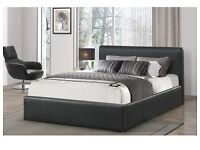 BRAND NEW RADO LEATHER BED + MATTRESS + DELIVERY