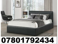 BED BRAND NEW DOUBLE LEATHER BED AND MATTRESS 3547