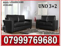 3 + 2 Italian leather sofa black or brown sofas fast delivery