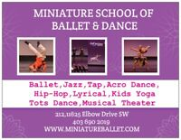 Miniature School of Ballet and Dance. Registration for 1,5-15y.o