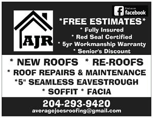 Average Joe's Roofing - Spring Booking Specials - Call Now