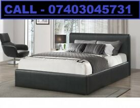 SALE DOUBLE LEATHER RIO BED AND FREE 9 INCH MATT BRAND NEW FREE HEAD BOARD £99
