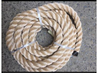 36mm synthetic decking rope x 10 metres, brand new & unused