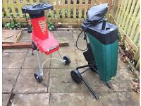 2 x Wood chippers / Shredders
