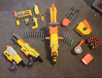 Multiple NERF weapons