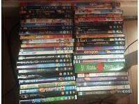 45 childrens dvds. Disney etc.