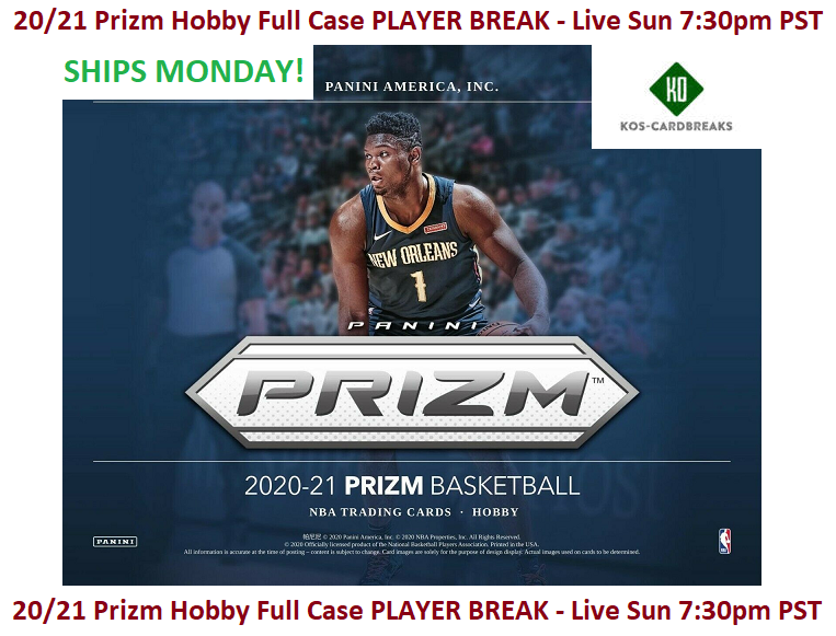 Bojan Bogdanovic Jazz 2020/21 20/21 Prizm Hobby Full Case PLAYER BREAK - $2.99