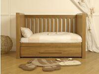 Solid Vib Cot bed oak
