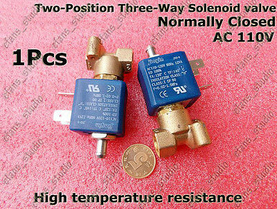 Ac 110v 3 Way 2 Position Normally Closed Mini Solenoid Valve For Gas Water Air