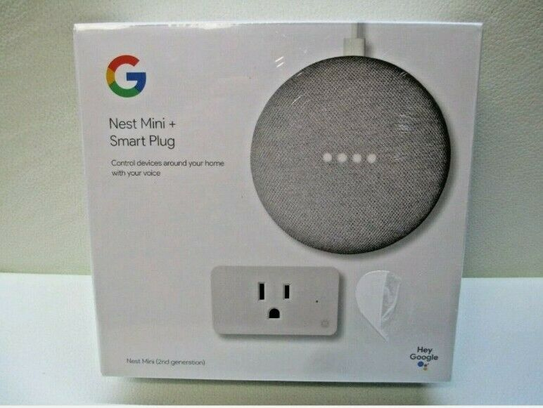 New!! Hands free Google Nest Mini and Smart Plug second Generation smart device