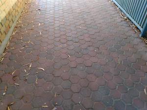 Hexagonal shaped paving bricks Houghton Adelaide Hills Preview