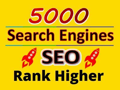 5000 Search Engines Directories Submission Seo Google Rank Index Your Website