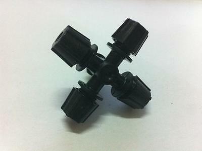 10pcs Black Micro Sprinker Head Misting Cross Atomizing Nozzlefour Export