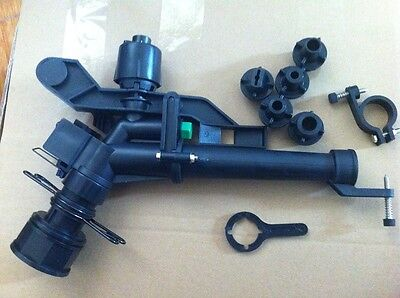 114abs Plastic Impact Sprinkler Gun Sprinkler Head With 5 Spray Nozzles