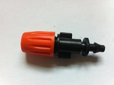 """10pcs 1/4""""Hose Garden Orange Misting Micro Adjustable Flow  Sprinkler Head"""