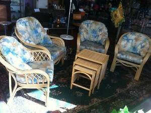 CANE FURNITURE SALE Corner Retro Store Clearview Port Adelaide Area Preview