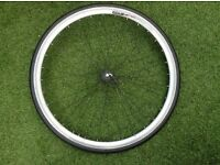 Fully Alloy Double wall Road Racing Bike Front Wheel + Top condition KENDA TYRE & QUICK RELEASE