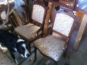 Antique Settee and Chairs  New Price !
