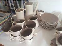 Large lot vintage Poole Pottery twintone