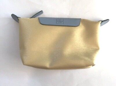 Jal Japan First Class Airlines Cosmetic Gold Bag