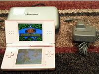 PINK NINTENDO DS LITE IN GOOD CONDITION COMES WITH CHARGER & CASE WILL ALSO INCLUDE 2 GAMES