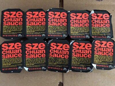 2018 Mcdonalds Szechuan Sauce Rick & Morty 10 Packs Limited Edition New &Sealed