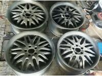 Set of 5 Diamond Racing 18x8J 5x112 alloy wheels (freshly shotblasted) VW Audi Seat Skoda VAG