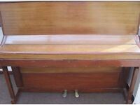 Beautiful Fully Working Oak Wood Upright Console Piano - CAN DELIVER