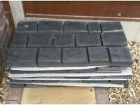 Marshalls Drivesys spilt stone block paving, basalt